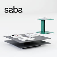 saba foulard tables 3D model