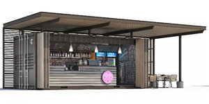 container coffee shop 3D model
