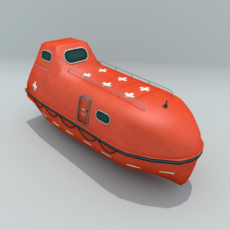3D lifeboat enclosed