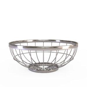 wire grid fruit basket model