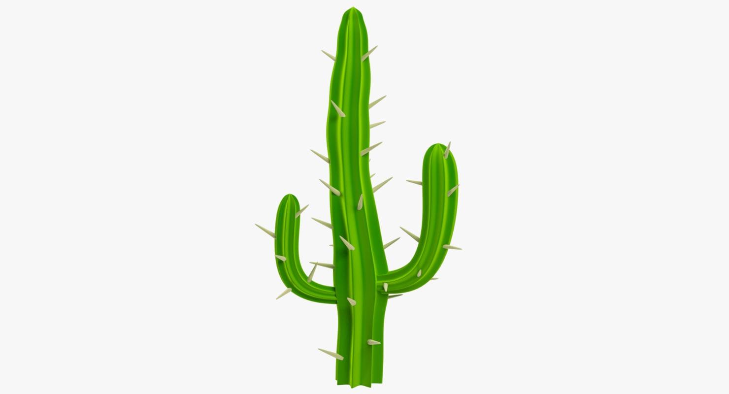 cartoon cactus 3D
