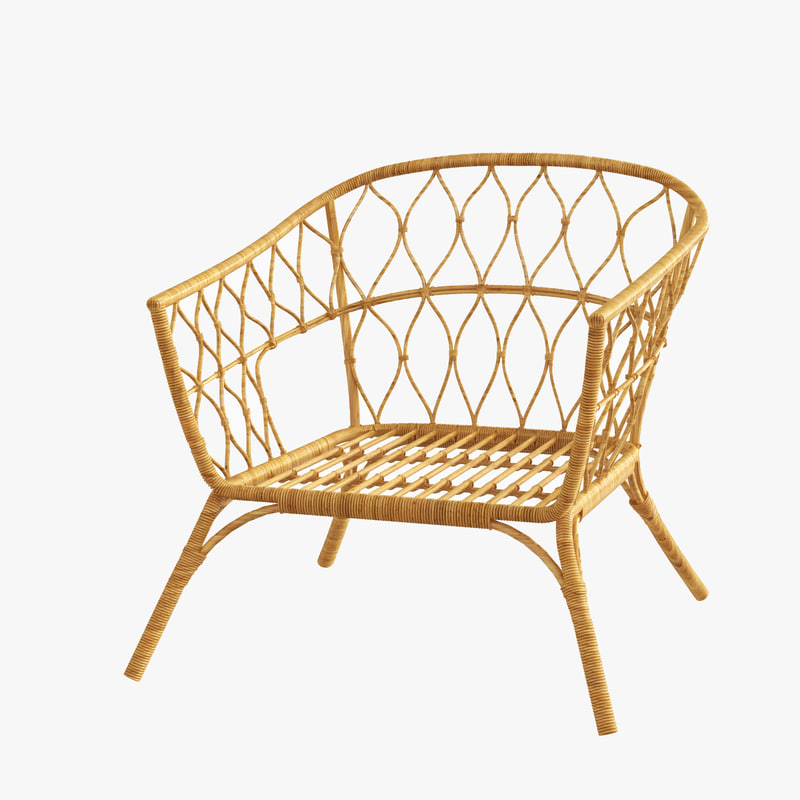 rattan chair ikea stockholm model turbosquid 1193358. Black Bedroom Furniture Sets. Home Design Ideas