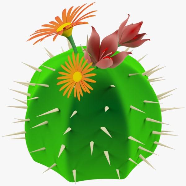 3D cartoon cactus
