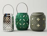 3D model ethnic lanterns