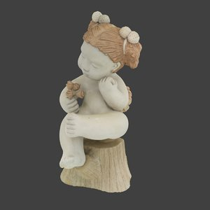clay angel statue 3D model