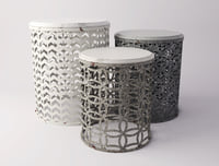 gray accent table set 3D