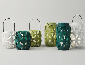 lantern candleholder set model