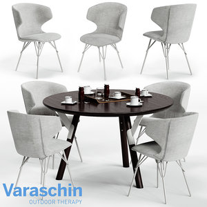 3D model varaschin kloe chair link