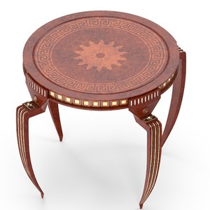 3D model mahogany table