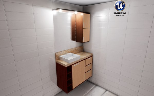 3D bathroom unreal cabinet