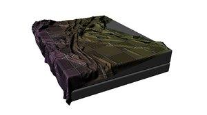 wrinkle sheets bed 3D model