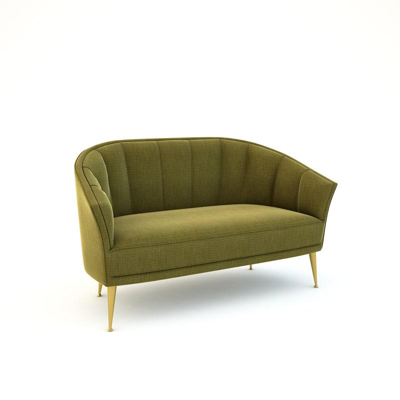 seat sofa mayas 3D model
