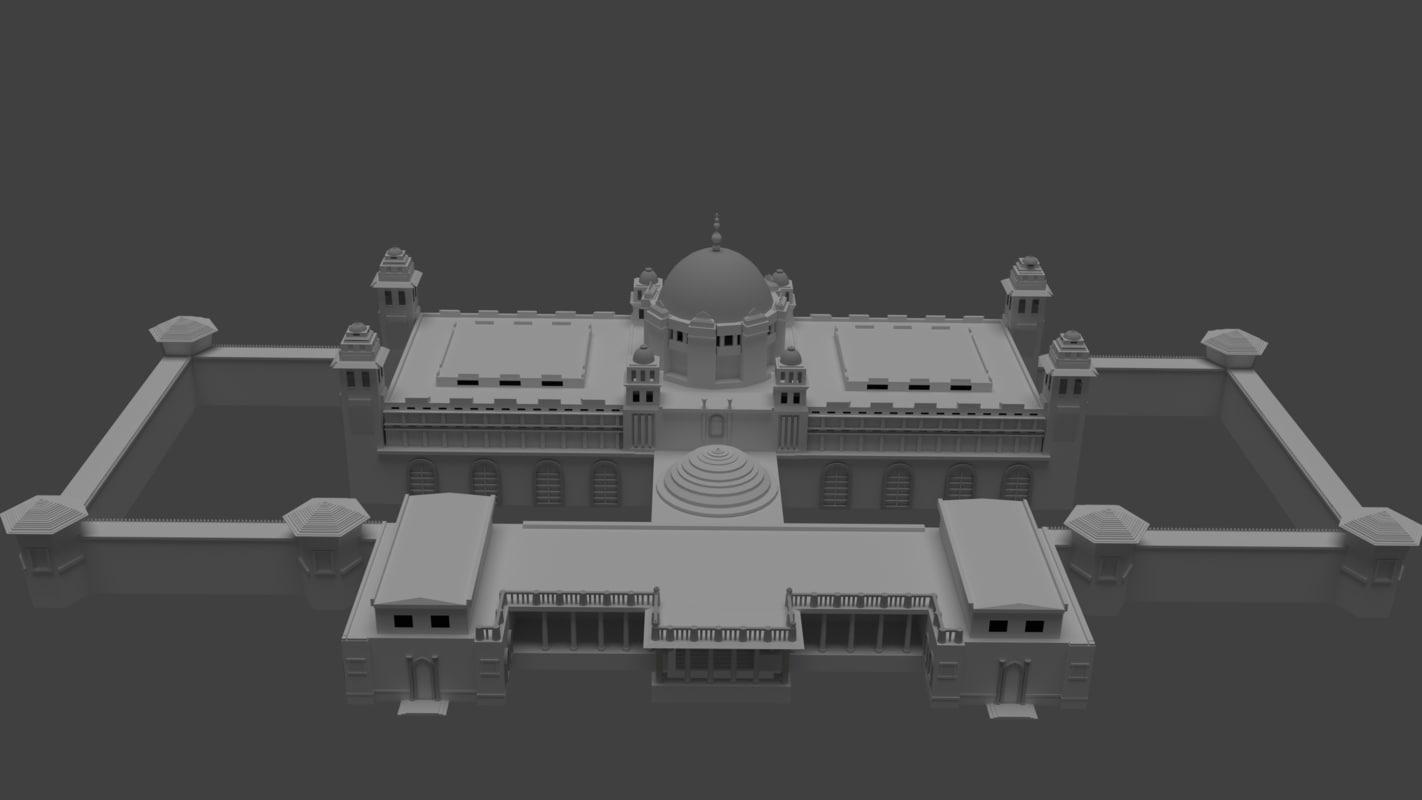 3D palace exterior model