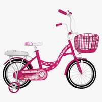 3D model bike girls