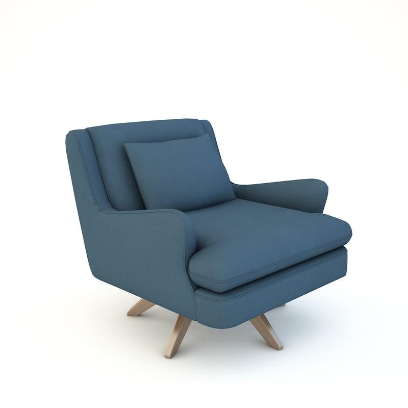 Venetian Lounge Chair Model