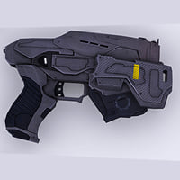 Low poly gun 3D