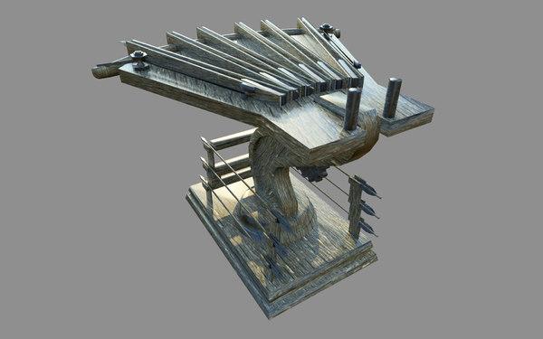 3D medieval ballista arbalet model