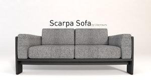 3D scarpa sofa model