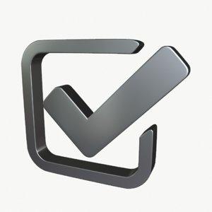 3D check symbol