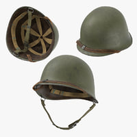 3D war ii m1 helmet model