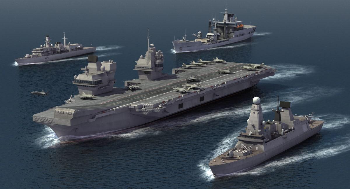 carrier group royal navy 3D model