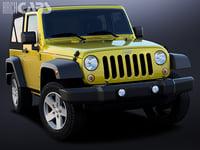 3D jeep wrangler sport