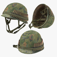 war ii m1 helmet 3D model