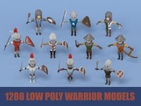 medieval warrior pack ar 3D