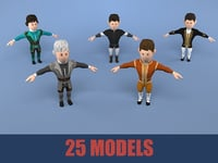 medieval character nobleman package model