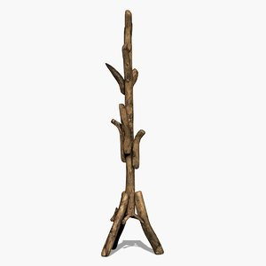 3D model - wooden rack