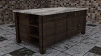 3D kitchen island