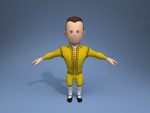 medieval character potentate 4 3D model