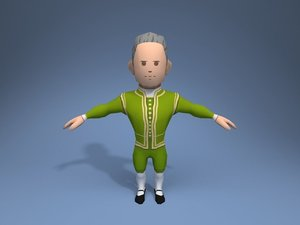 3D medieval character potentate 3