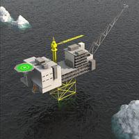 ivar aasen oil rig 3D model