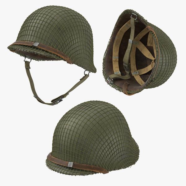 3D war ii ranger helmet model