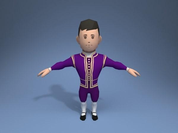 medieval character duke 5 3D