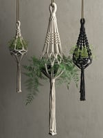 Macrame Hanging Pots with Plants