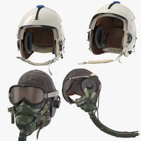 3D hgu helmet pilot head