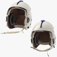 hgu helmet 2 poses 3D model