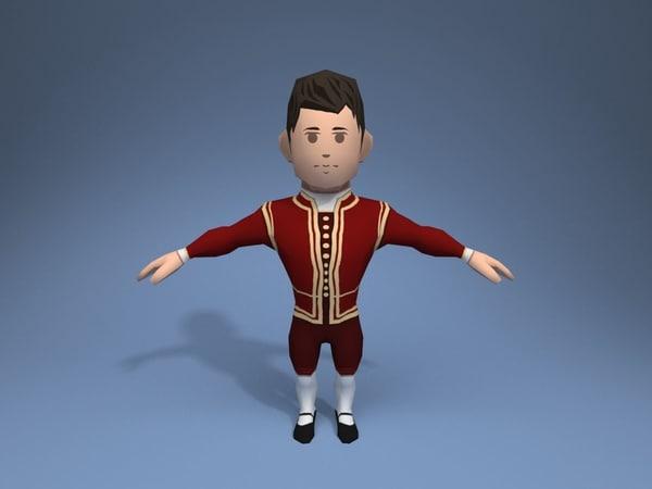 nobleman character ar 3D