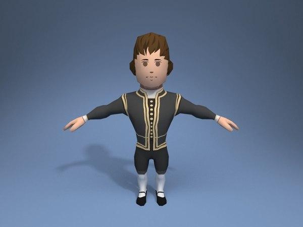3D nobleman character ar