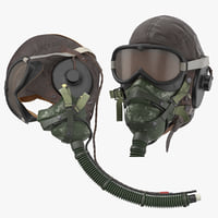 3D hgu helmet pilot head model