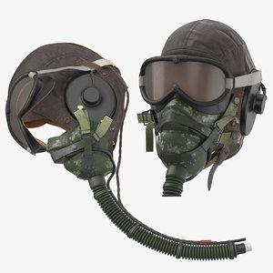 3D hgu helmet pilot head model