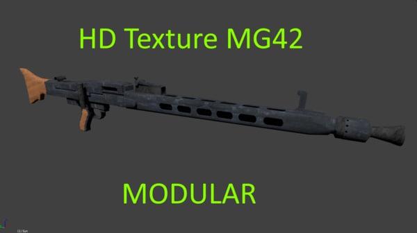 german ww2 machinegun disassembled 3D model