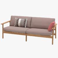 3D model riva sofa kettal seater