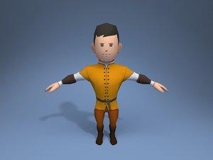 nobleman character ar 3D model