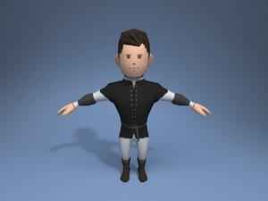 3D nobleman character ar model