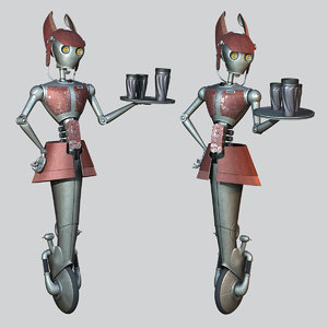 star wars wa-7 waitress 3D model