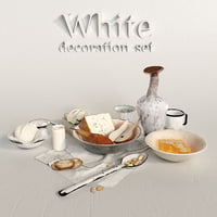 decorative set white model