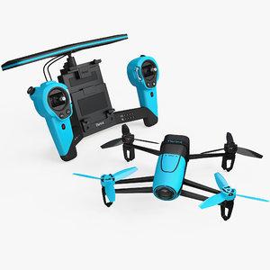 3D model parrot bebop quadcopter drone